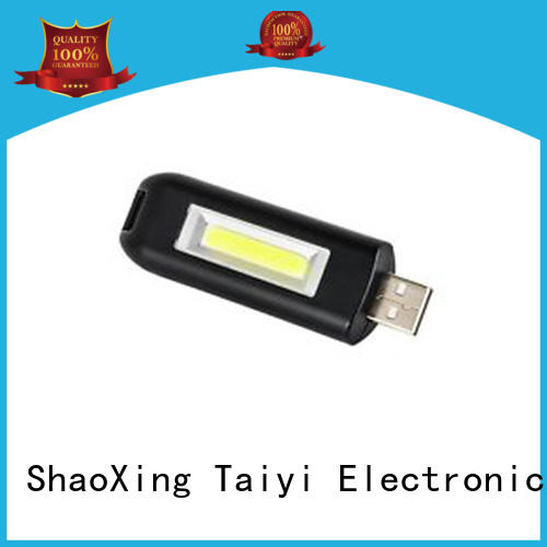 Taiyi Electronic colorful personalized keychain light cob for roadside repairs