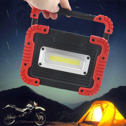 Portable square rechargeable COB work light flood lantern