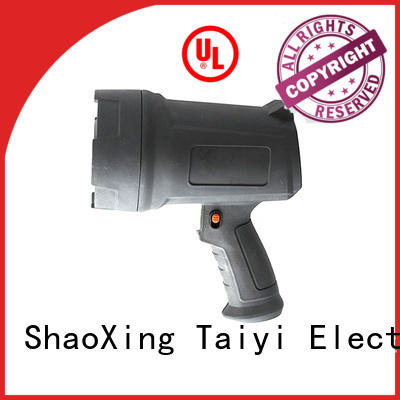 Taiyi Electronic promotional handheld battery spotlight wholesale for camping