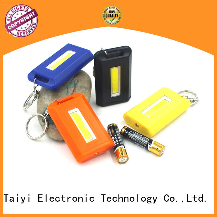 colorful custom keychain light super for multi-purpose work light Taiyi Electronic