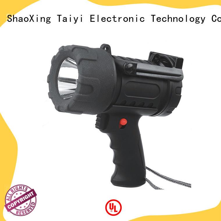 Taiyi Electronic durable halogen handheld spotlight manufacturer for camping