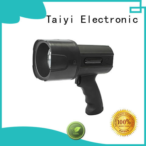 Taiyi Electronic powerful 12 volt handheld spotlights wholesale for sports