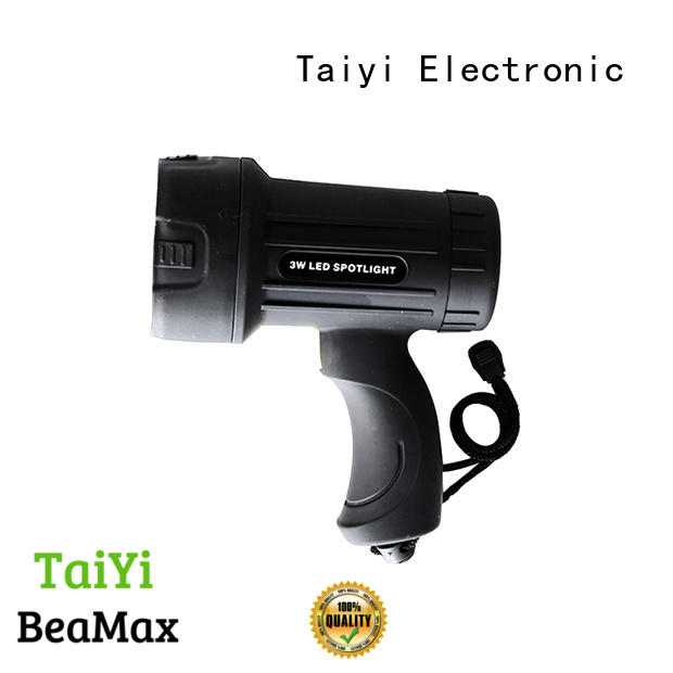 Taiyi Electronic durable brightest handheld spotlight manufacturer for vehicle breakdowns