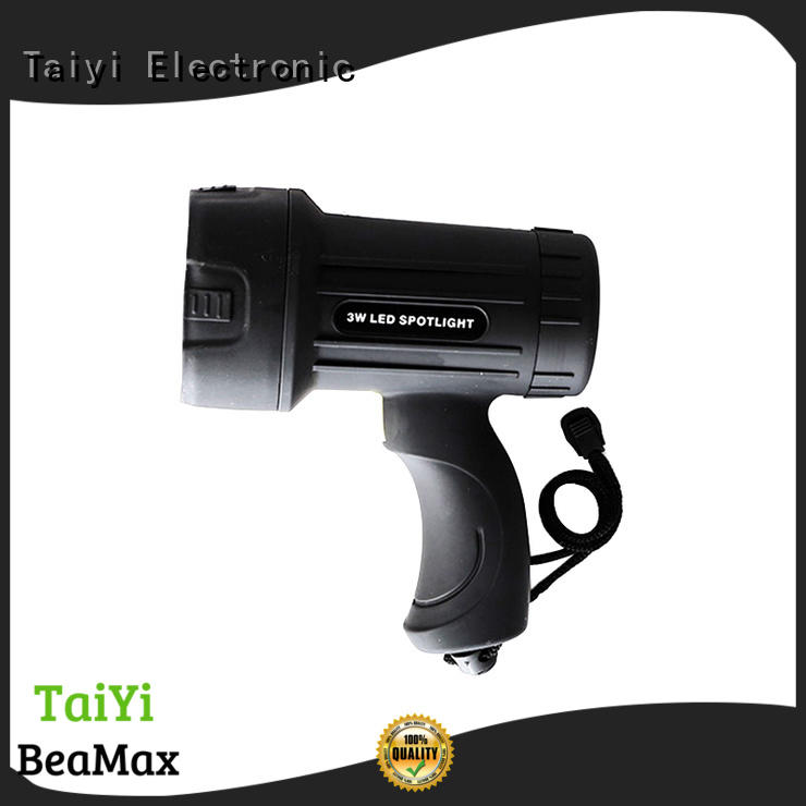 Taiyi Electronic high quality waterproof rechargeable spotlight supplier for search