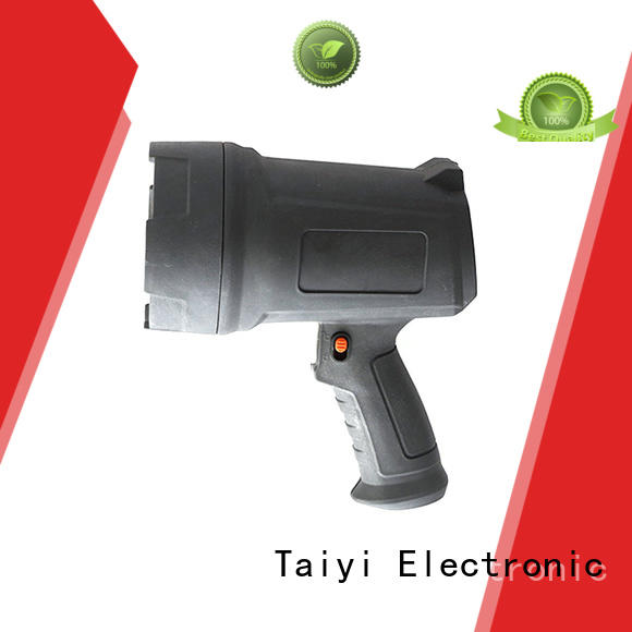 Taiyi Electronic durable 12v handheld spotlight manufacturer for security