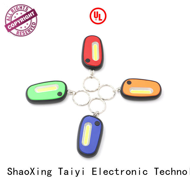 Taiyi Electronic colorful promotional flashlight keychains wholesale for roadside repairs