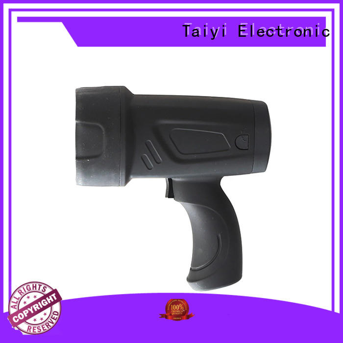 Taiyi Electronic powerful led handheld spotlight 12v supplier for security