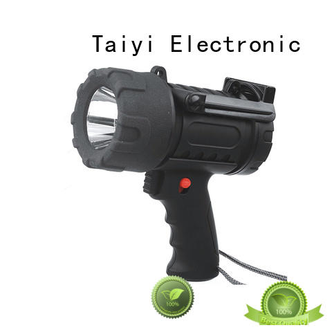 Taiyi Electronic durable rechargeable handheld spotlight supplier for security