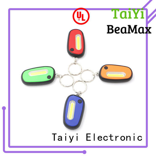 Taiyi Electronic high quality flashlight keychain with logo wholesale for roadside repairs