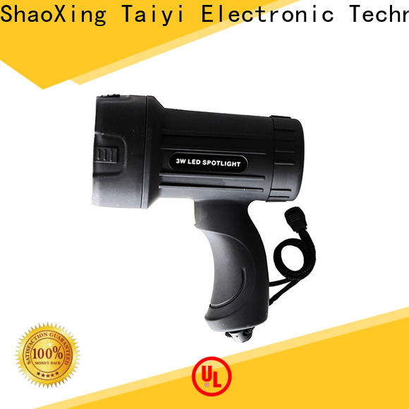 Taiyi Electronic high quality 12v handheld spotlight manufacturer for camping