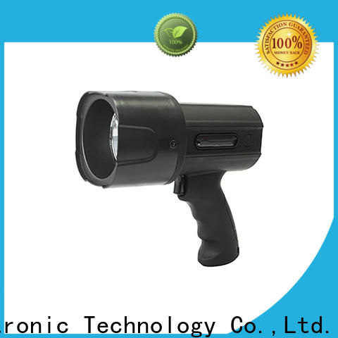 high quality rechargeable handheld spotlight light supplier for camping