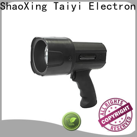 Taiyi Electronic bright best rechargeable spotlight supplier for security