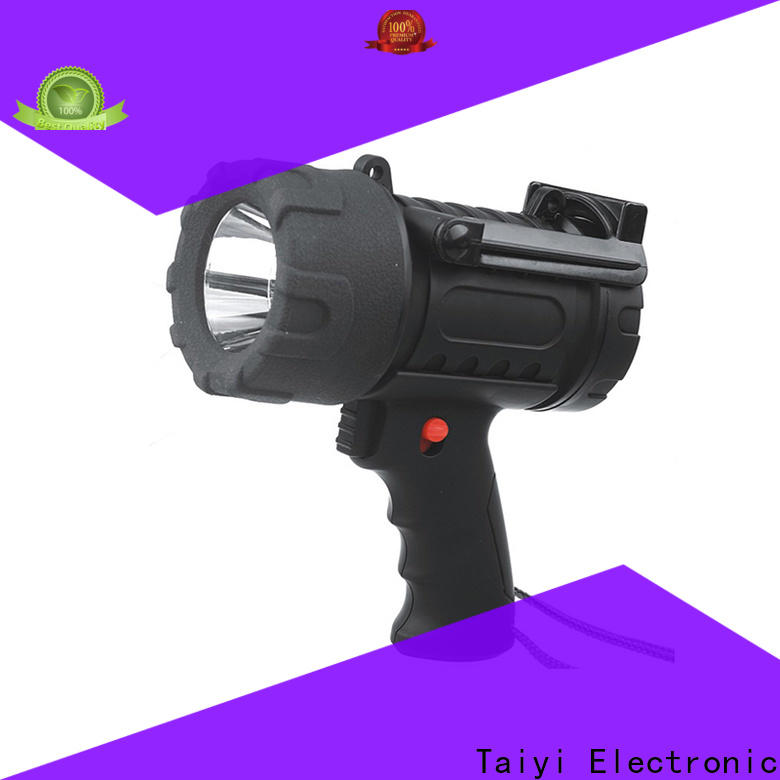 Taiyi Electronic rechargeable led handheld spotlight supplier for security