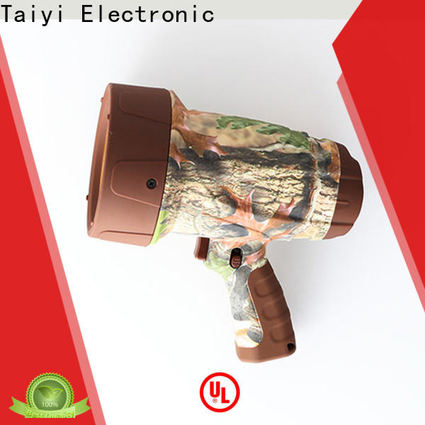 Taiyi Electronic durable portable spotlight with stand supplier for search