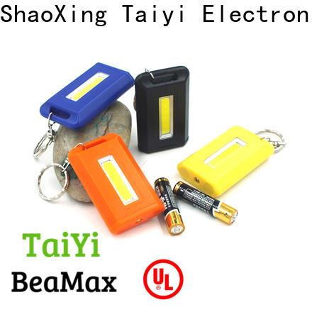 Taiyi Electronic solar flashlight keychain with logo wholesale for electronics