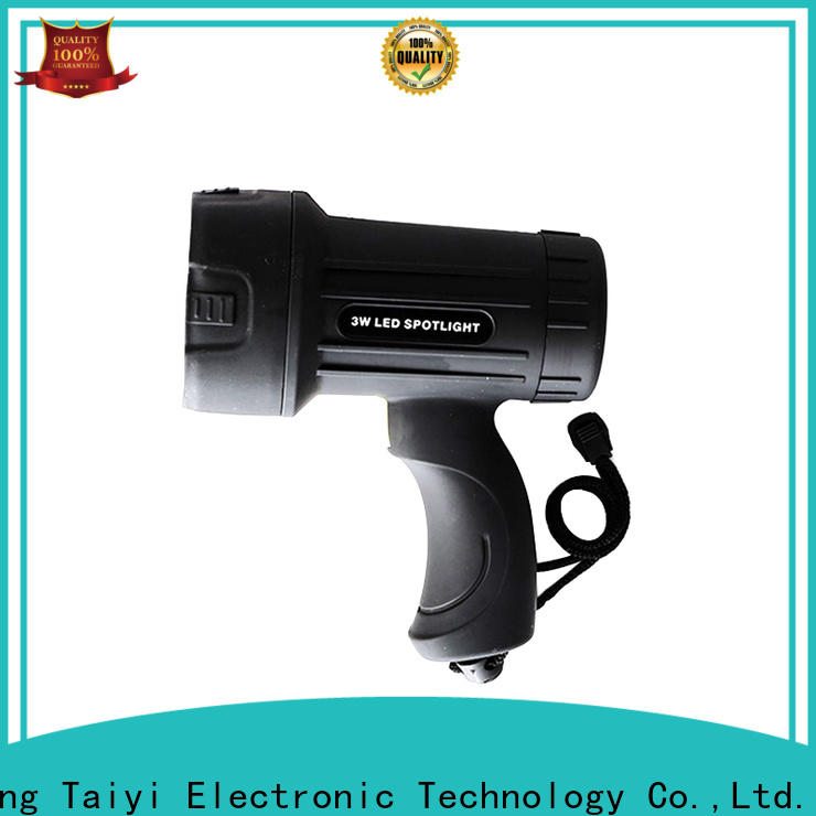 Taiyi Electronic professional waterproof rechargeable spotlight manufacturer for search