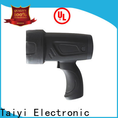 Taiyi Electronic operated brightest portable spotlight manufacturer for search