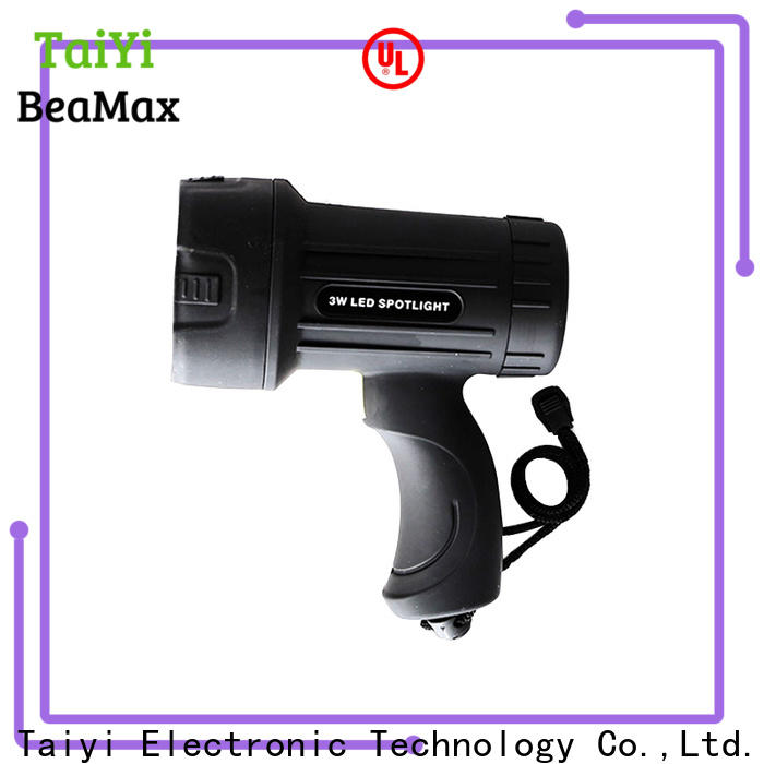 Taiyi Electronic outdoor brightest rechargeable spotlight wholesale for vehicle breakdowns