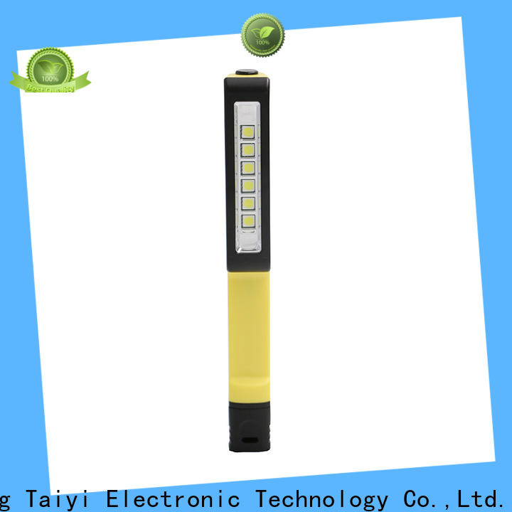 Taiyi Electronic stable rechargeable magnetic work light supplier for roadside repairs