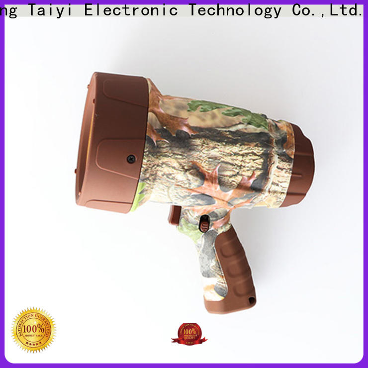 Taiyi Electronic handheld brightest rechargeable spotlight manufacturer for vehicle breakdowns