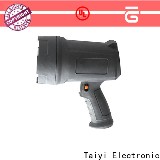 Taiyi Electronic operated highest lumen handheld spotlight manufacturer for security