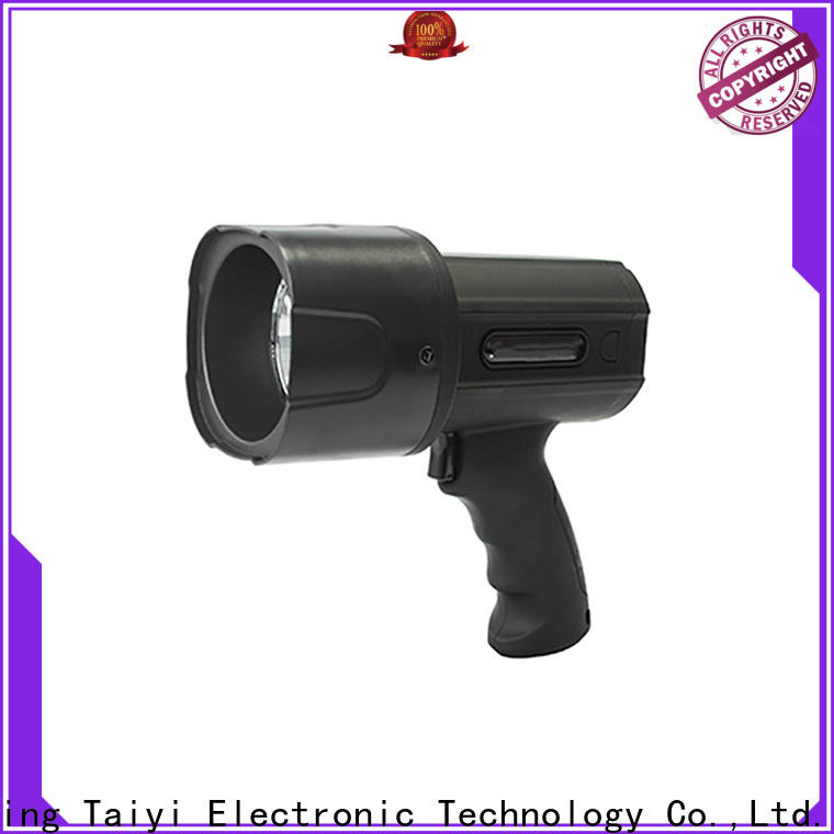 Taiyi Electronic professional handheld battery spotlight wholesale for sports