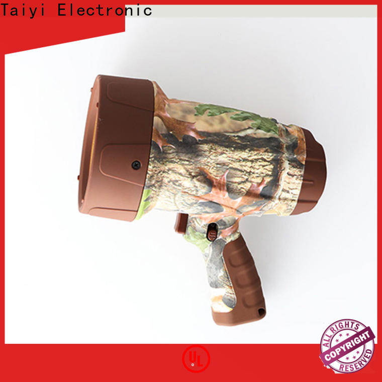 Taiyi Electronic professional handheld spotlight wholesale for camping
