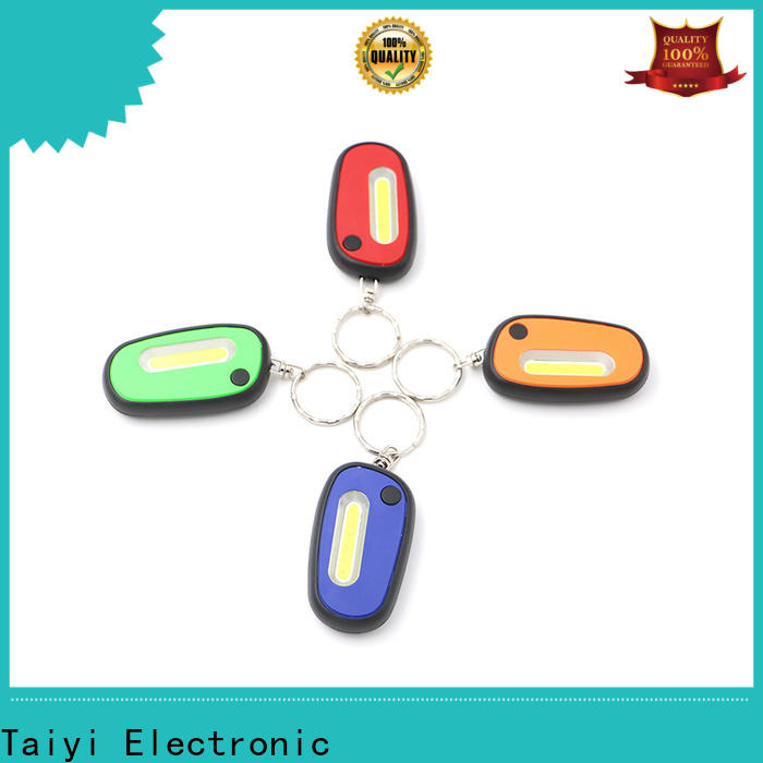 Taiyi Electronic colorful keychain flashlight series for roadside repairs