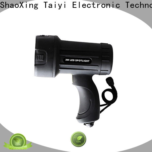 Taiyi Electronic operated portable spotlight with stand series for search