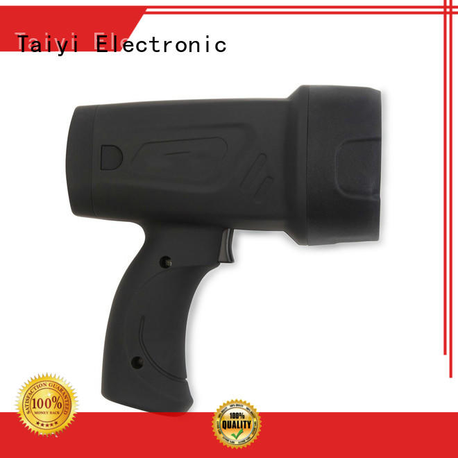 Taiyi Electronic handheld rechargeable spotlight wholesale for security