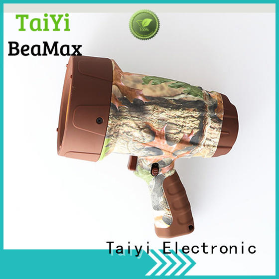 Taiyi Electronic rechargeable best portable spotlight wholesale for vehicle breakdowns