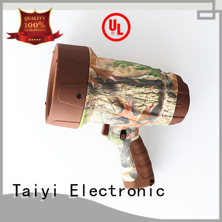 Taiyi Electronic high quality portable rechargeable led spotlights series for security